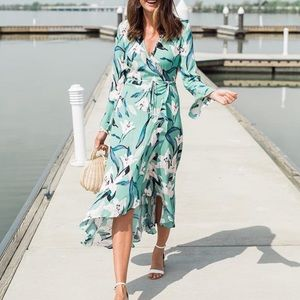 Leith Wrap Floral Dress High Low